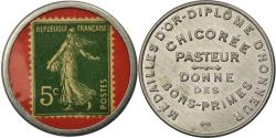 World Coins - Coin, France, Chicorée Pasteur, 5 Centimes, Timbre-Monnaie,