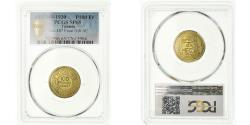 World Coins - Coin, Tunisia, 100 Francs, 1930, ESSAI, PCGS, SP65, Gilt Bronze, graded