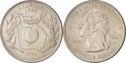Us Coins - United States, State Quarter, 1999, Denver, Georgia, KM:296