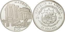 World Coins - Liberia, 20 Dollars, Madrid, 2000, , Silver, KM:640