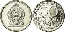 World Coins - Coin, Sri Lanka, 50 Cents, 2004, , Nickel plated steel,  KM:135 2a