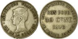 World Coins - Coin, Réunion, 50 Centimes, 1896, Paris, , Copper-nickel, KM:4