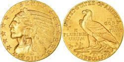 Us Coins - Coin, United States, Indian Head, $5, Half Eagle, 1911, U.S. Mint, Philadelphia