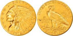 Us Coins - Coin, United States, Indian Head, $2.50, Quarter Eagle, 1912, U.S. Mint
