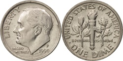 Us Coins - United States, Roosevelt Dime, 1990, Philadelphia, , KM:195a
