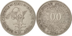 World Coins - West African States, 100 Francs, 1967, , Nickel, KM:4