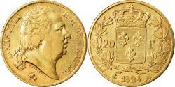 Ancient Coins - Coin, France, Louis XVIII, 20 Francs, 1824, Paris, , Gold, KM 712.1