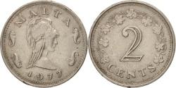 World Coins - Malta, 2 Cents, 1977, British Royal Mint, , Copper-nickel, KM:9