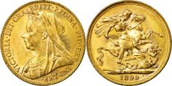 World Coins - Coin, Australia, Victoria, Sovereign, 1899, Melbourne, , Gold, KM:13