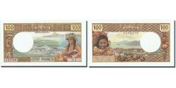 World Coins - Banknote, Tahiti, 100 Francs, Undated (1968), KM:24a, UNC(65-70)