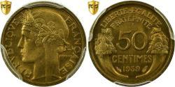 World Coins - Coin, France, Morlon, 50 Centimes, 1939, Paris, PCGS, MS66, Aluminum-Bronze