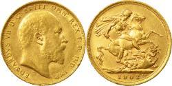 World Coins - Coin, Australia, Edward VII, Sovereign, 1902, Melbourne, , Gold, KM:15