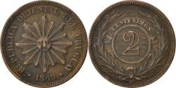 World Coins - URUGUAY, 2 Centesimos, 1869, Uruguay Mint, KM #12, , Bronze, 29.9,...