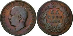 World Coins - Coin, Portugal, Luiz I, 20 Reis, 1884, , Bronze, KM:527