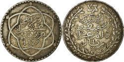 World Coins - Coin, Morocco, 'Abd al-Hafiz, Rial, 10 Dirhams, 1911, bi-Bariz, Paris,