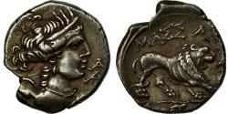 Ancient Coins - Coin, Massalia, Drachm, 150-125 BC, Marseille, , Silver