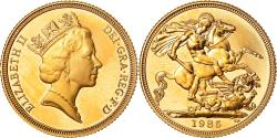 World Coins - Coin, Great Britain, Elizabeth II, Sovereign, 1985, , Gold, KM:943