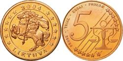 World Coins - Lithuania, Medal, Essai 5 cents, 2004, , Copper