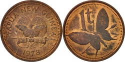 World Coins - Papua New Guinea, Toea, 1978, , Bronze, KM:1