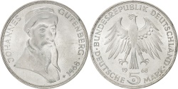 World Coins - GERMANY - FEDERAL REPUBLIC, 5 Mark, 1968, Karlsruhe, KM #122, , Silver,...