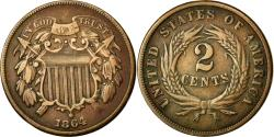 Us Coins - Coin, United States, 2 Cents, 1864, U.S. Mint, Philadelphia,