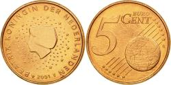 World Coins - Netherlands, 5 Euro Cent, 2001, , Copper Plated Steel, KM:236