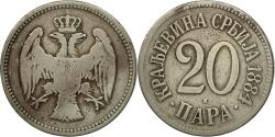 World Coins - Coin, Serbia, Milan I, 20 Para, 1884, , Copper-nickel, KM:20