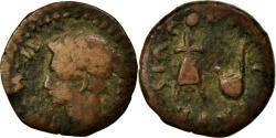 Ancient Coins - Coin, Spain, Augustus, Semis, Caesaraugusta, F(12-15), Copper