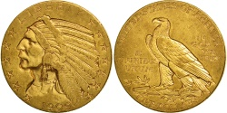 Us Coins - United States, Indian Head, $5, 1909, Denver, , Gold, KM:129