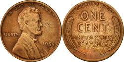 Us Coins - United States, Lincoln Cent, Cent, 1955, U.S. Mint, Denver, , Brass