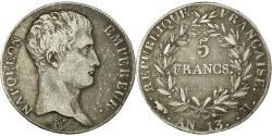 World Coins - Coin, France, Napoléon I, 5 Francs, AN 13, Toulouse, , Silver