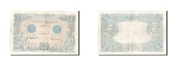 World Coins - France, 20 Francs, 20 F 1905-1913 ''Bleu'', 1912, KM:68b, 1912-06-21, AU(50-5...
