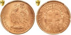 World Coins - Coin, Cameroon, 50 Centimes, 1943, Pretoria, PCGS, MS66RD, Bronze, KM:6, graded