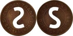 Us Coins - United States, Token, Sacramento Suburban Transit
