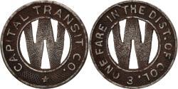 Us Coins - United States, Washington D.C., Capital Transit Co., Token