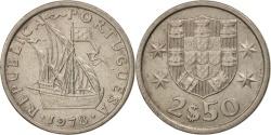 World Coins - Portugal, 2-1/2 Escudos, 1978, , Copper-nickel, KM:590