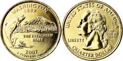 Us Coins - Coin, United States, Washington, Quarter, 2007, U.S. Mint, Denver, golden