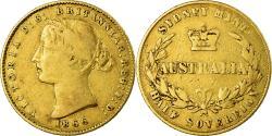 World Coins - Coin, Australia, Victoria, 1/2 Sovereign, 1866, Sydney, , Gold, KM:3