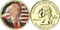 Us Coins - United States of America, Medal, Quarter Dollar, Donald Trump, 2017,