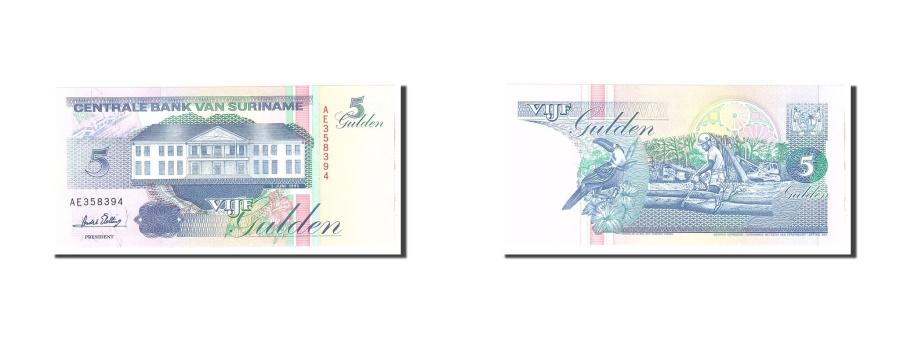World Coins - Suriname, 5 Gulden, 1995, KM:136b, 1995-06-01, UNC(65-70)