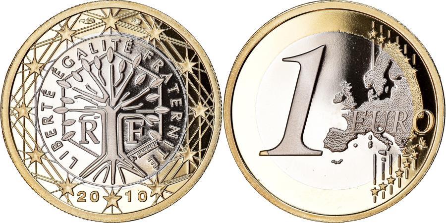 World Coins - France, Euro, 2010, BE, , Bi-Metallic, KM:1413
