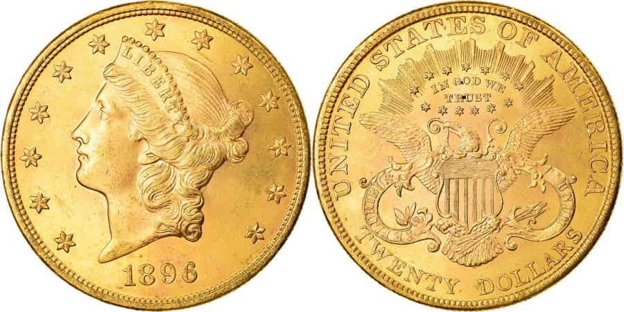 US Coins - Coin, United States, $20, Double Eagle, 1896, Philadelphia, , Gold