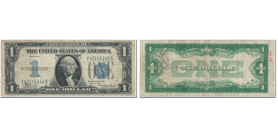 US Coins - Banknote, United States, One Dollar, 1934, undated (1934), KM:1451, VF(20-25)