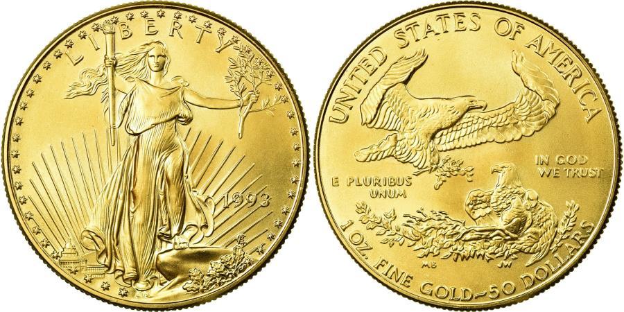 US Coins - Coin, United States, $50, 1993, U.S. Mint, Philadelphia, , Gold, KM:219