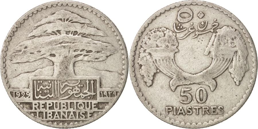 World Coins - Lebanon, 50 Piastres, 1929, Paris, , Silver, KM:8