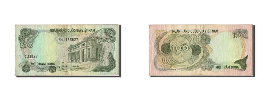 World Coins - South Viet Nam, 100 Dông, Undated (1970), Undated, KM:26a, VF(30-35)