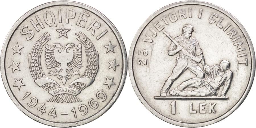 World Coins - Albania, Lek, 1969, , Aluminum, KM:48