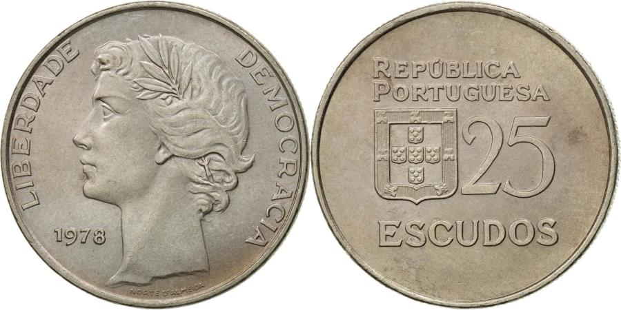 World Coins - Coin, Portugal, 25 Escudos, 1978, , Copper-nickel, KM:607
