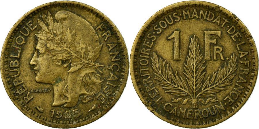 World Coins - Coin, Cameroon, Franc, 1925, Paris, , Aluminum-Bronze, KM:2