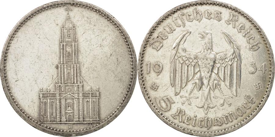 World Coins - GERMANY, THIRD REICH, 5 Reichsmark, 1934, Berlin, , Silver, KM:83